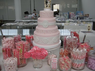The wedding cake a chocolate fountain a punch bowl or fountain
