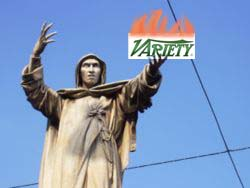 Savonarola launched BONFIRE OF THE VANITIES...