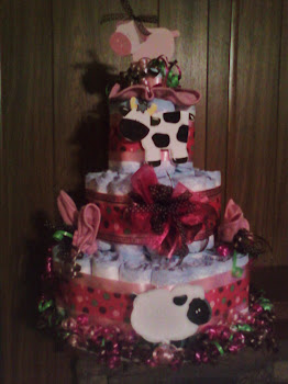 Girlie Farm Animal Cake Custom Order