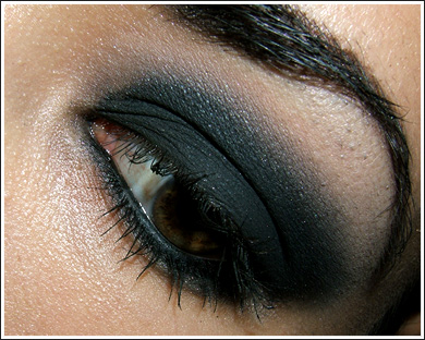 smokey eye makeup application. smokey eye makeup application.