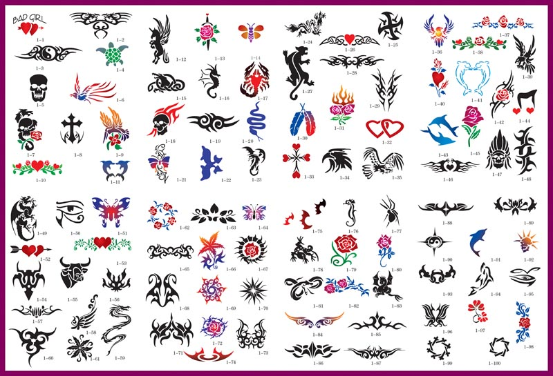 Free tribal tattoo designs 84 · Free Air Brush Tattoo Stencil Sheet
