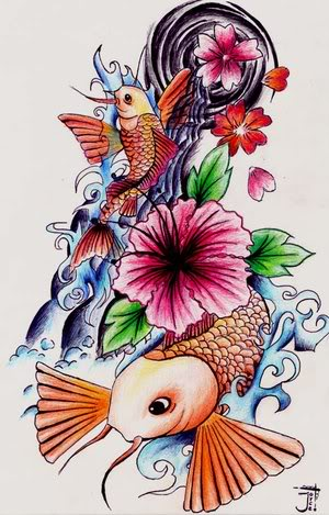 Flower tattoo designs 1. Japanese Koi Fish Tattoo Designs.