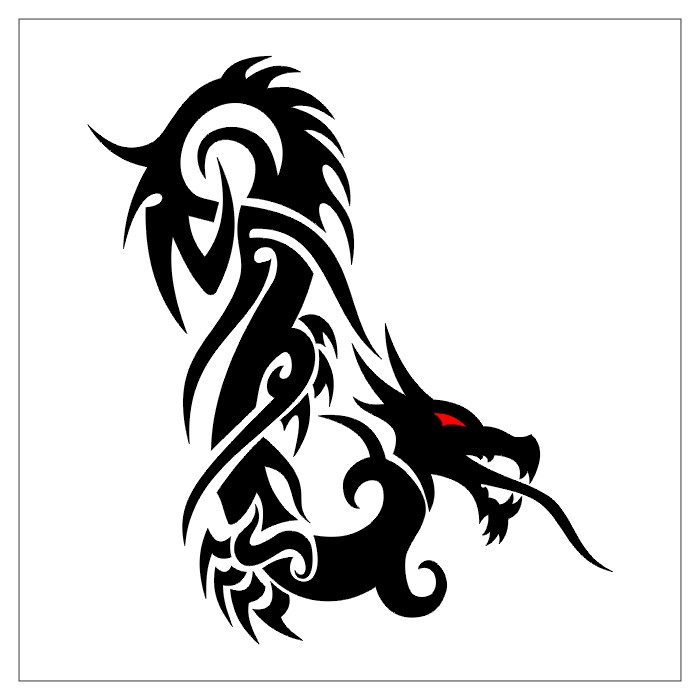Tattoo Yourself Templates Dragon Tatto Designs | Tribal Dragon Tattoo