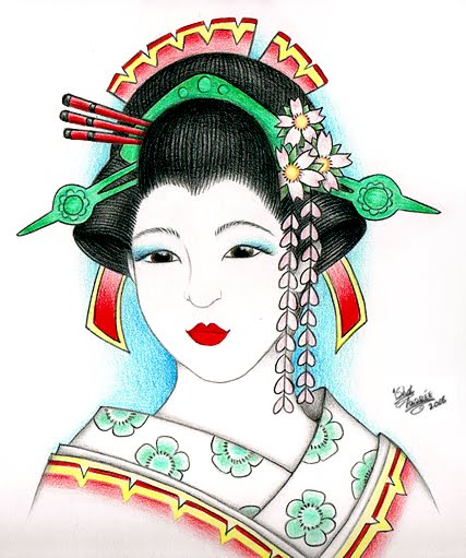 Labels: geisha tattoo designs