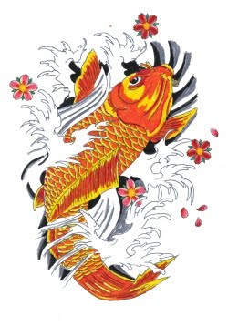 Japanese tattoo picture japanese koi fish tattoo for Japanese koi centre