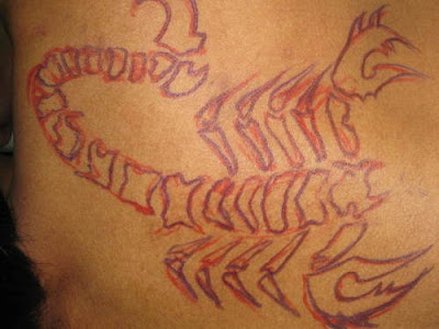 Labels: tribal scorpion tattoo