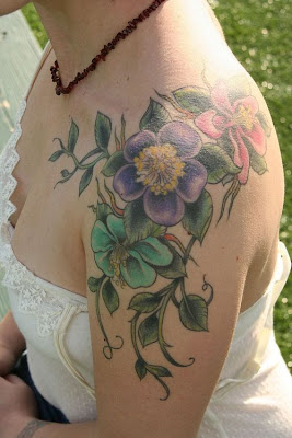 New Tribal Flower Tattoos Depict Feminine Body Art