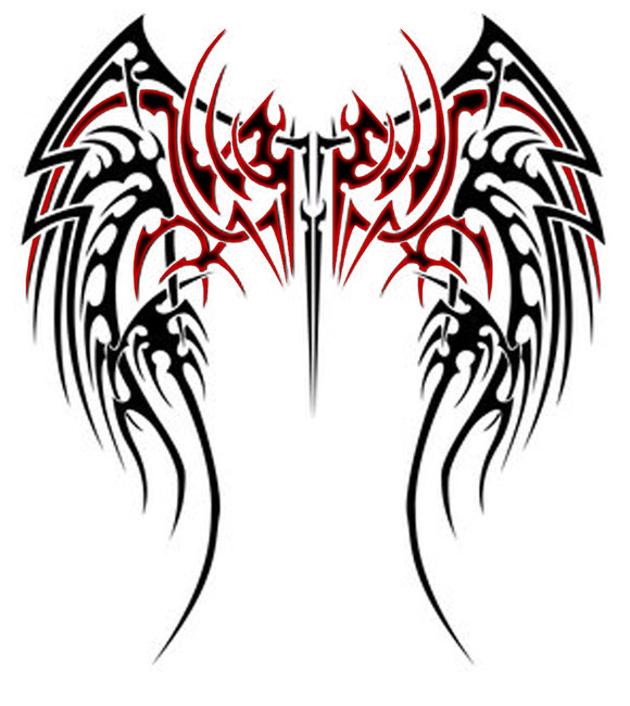Tribal Wings Tattoo Design.