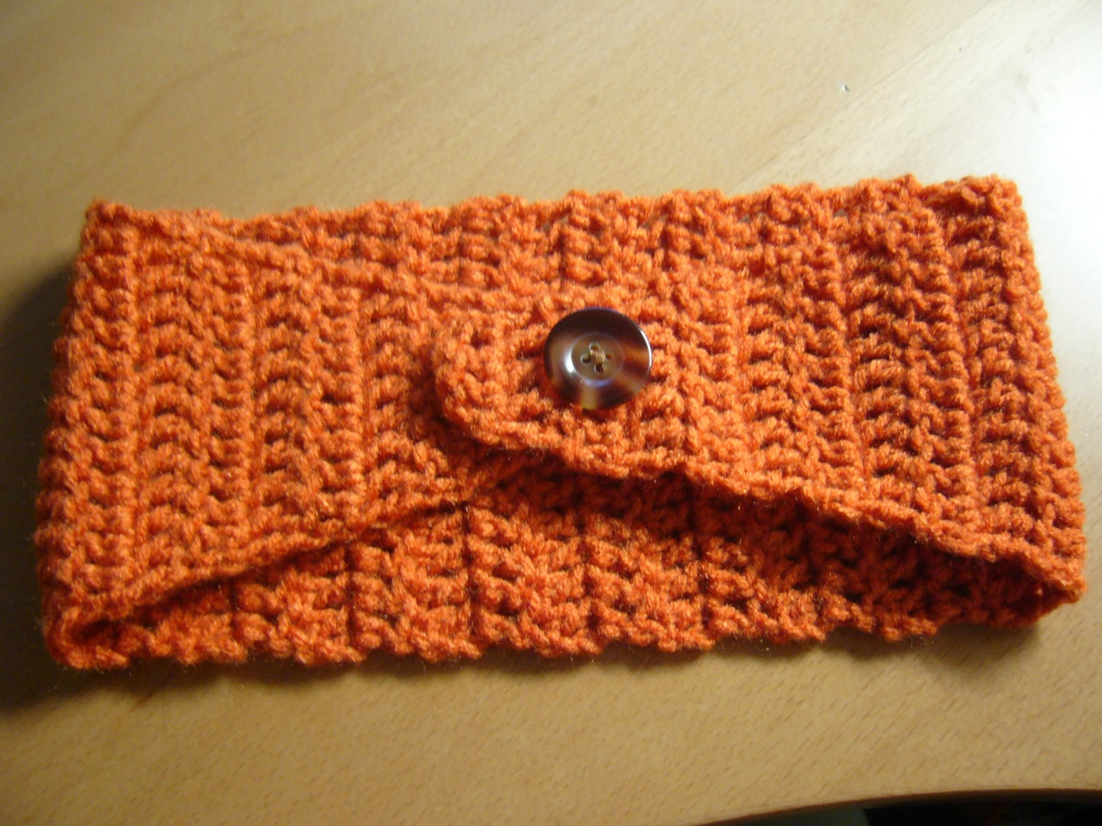 Free Crochet Pattern Headband Ear Warmer Button : FREE PATTERN FOR CROCHETED EAR WARMER