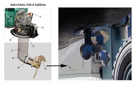 lucey blue volvo penta 130s saildrive overhaul lower oil seals rh luceybluetoo blogspot com Saildrive Engine Saildrive System