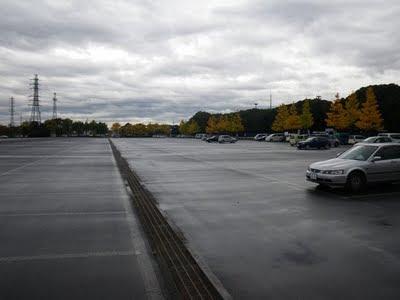 水上公園の駐車場