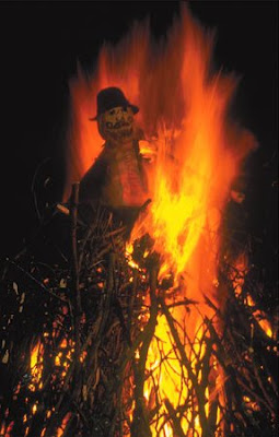 Poor Guy being roasted on the bonfire
