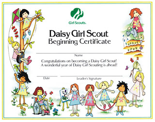 We have completed 3 Daisy Girl Scout Classes:
