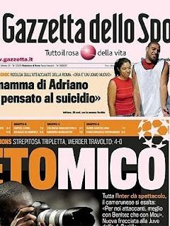 Jogador Adriano já pensou em suicidio
