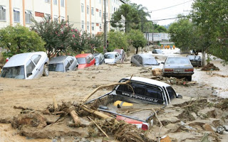 Fotos da destruição causada pelas chuvas no RJ