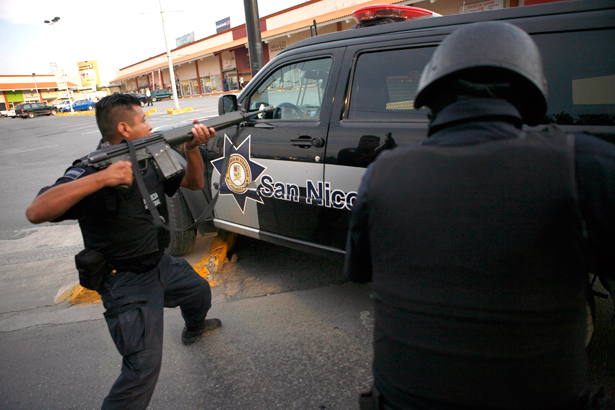 According to BBC News, members of a Mexican drug cartel blockaded 13