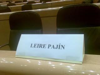 Escaño socialista en el Senado que corresponde a nuestra compañera Leire Pajín