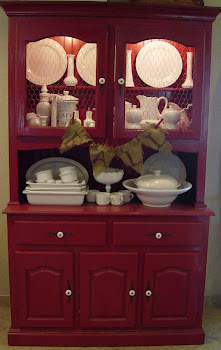 Rustic Red Hutch (SOLD)