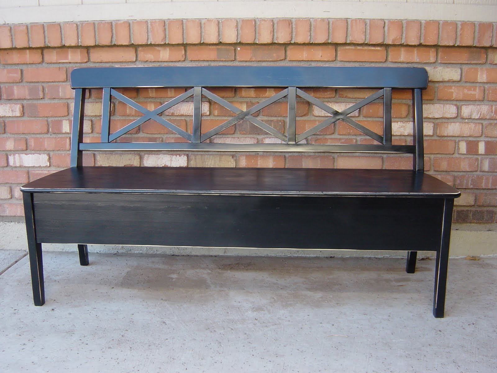 The Backyard Boutique By Five To Nine Furnishings Black Distressed Bench Sold