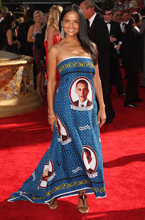 Obama himself might outlaw this dress.