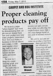 Werner Braun: Proper Carpet Cleaning Products Pay Off