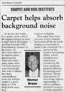 Carpet helps absorb background noise