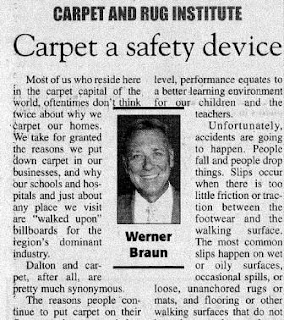 Werner Braun: Carpet adds to safety at home