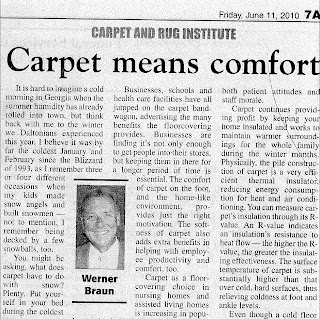 Carpet means comfort by Werner Braun