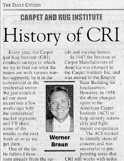 Carpet and Rug Institute History: Werner Braun