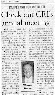 CRI Annual Meeting 2010 Features Andy Wright, Dutko Worlwide