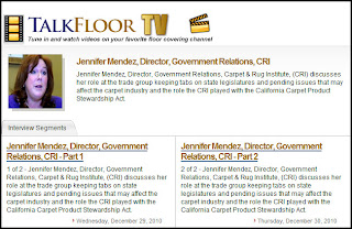 Carpet and Extended Producer Responsibility: CRI's Jennifer Mendez on TalkFloorTV