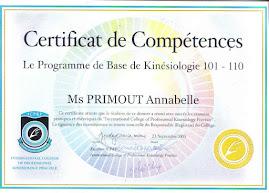 Certifiée ICPKP New-Zealand pour la Kinésiologie