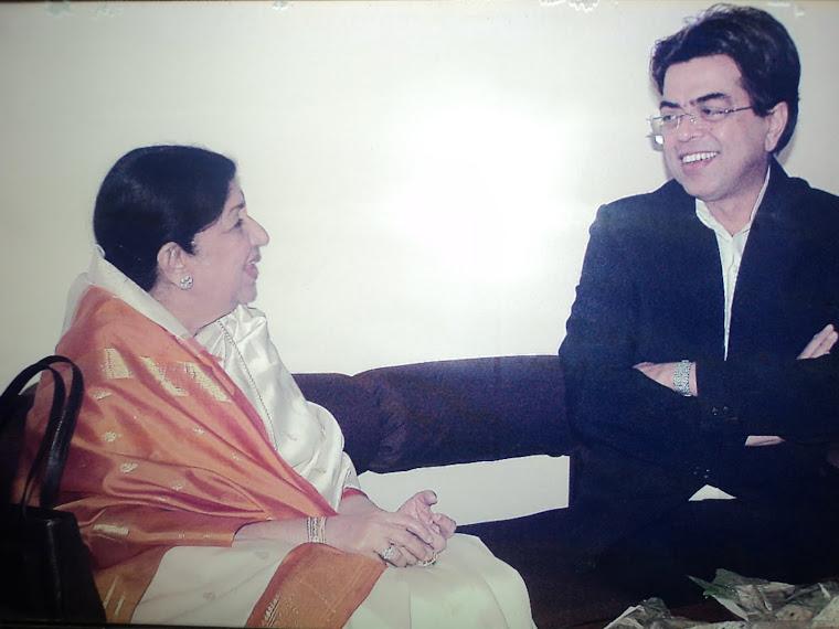 BharatRatna Lata Didi at DDK Mumbai with Mukesh sharma