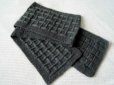 мужская шапка и шарф спицами схема.