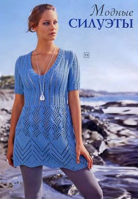 Автор:Admin. вязание спицами женские летние платья