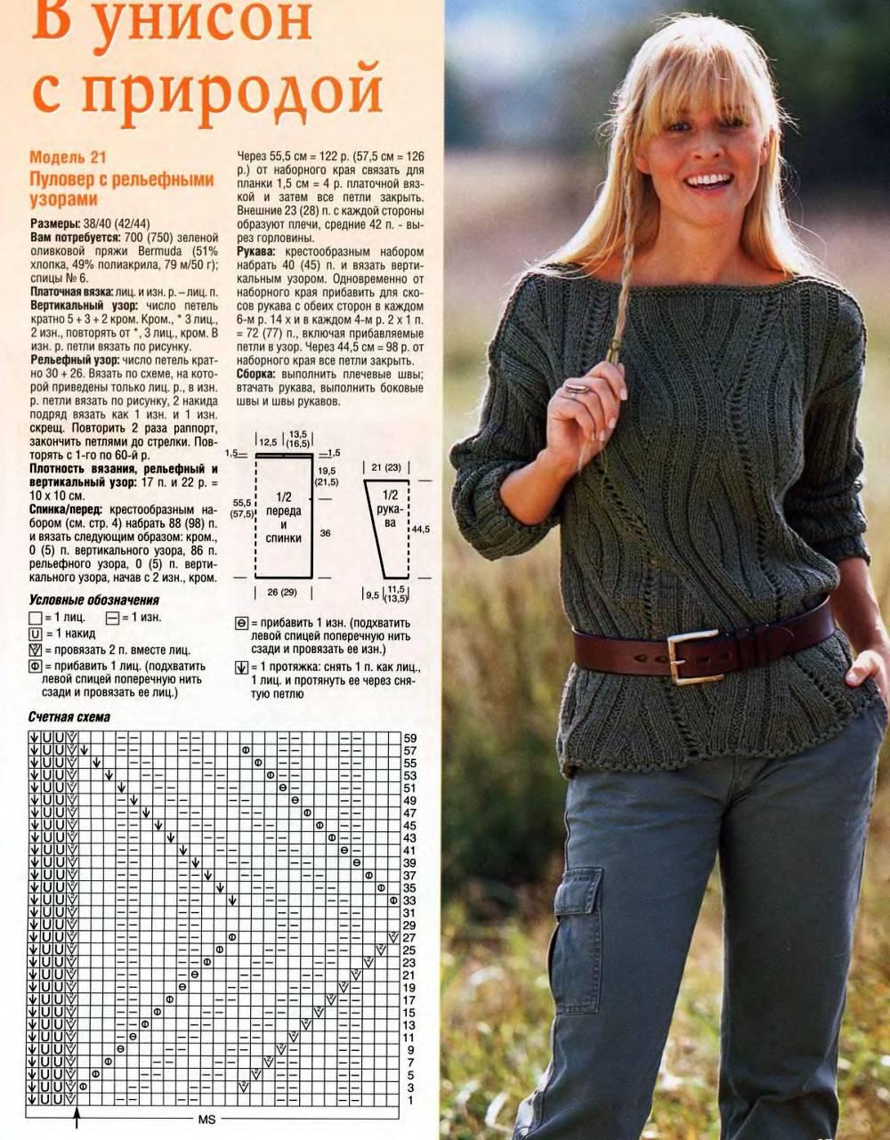 Модели джемперов для вязания 32