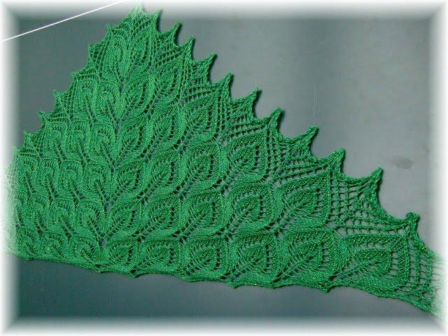 Схема вязания ажурных платков и шалей на спицах