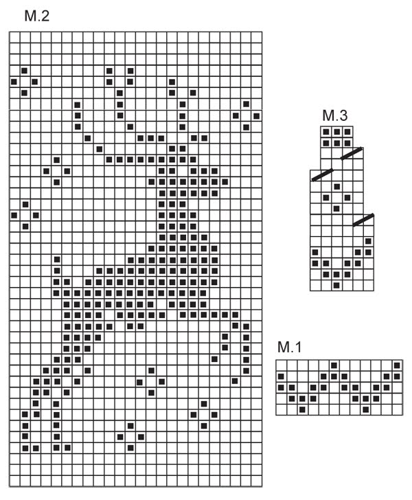 схема шапочка з оленями