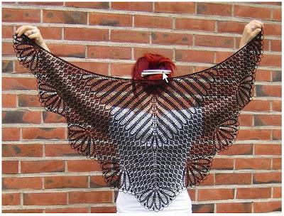 beauty shawl to knit