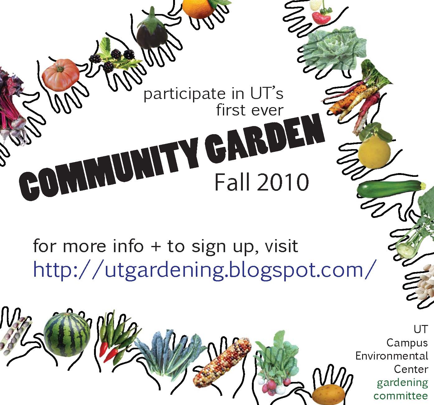 UT Gardening Committee first community garden workday