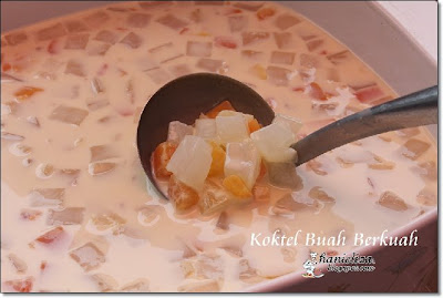 koktel buah buahan berkuah bahan 1 tin fruit cocktail 1