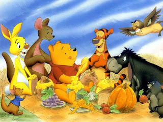 Cartoon wallpaper Winnie the Pooh party