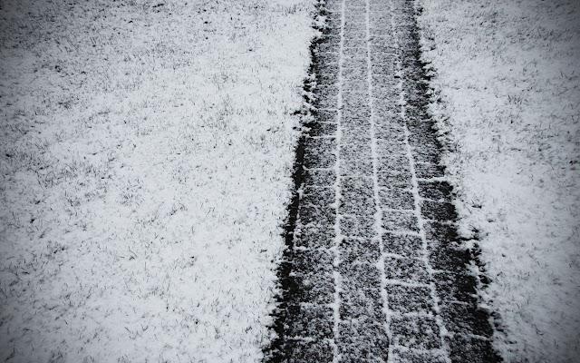 Snowy path Winter wallpaper