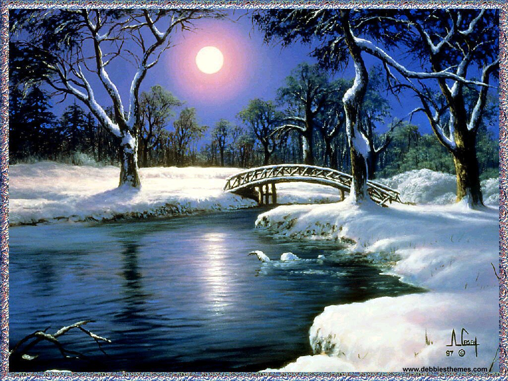 Winter Wallpaper Free No Download Winter Moon Animation Wallpaper Urban Art Wallpaper