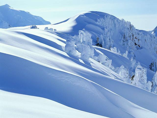 Winter wallpaper frost mountain