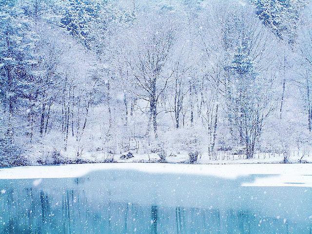Christmas winter wallpaper ice lake