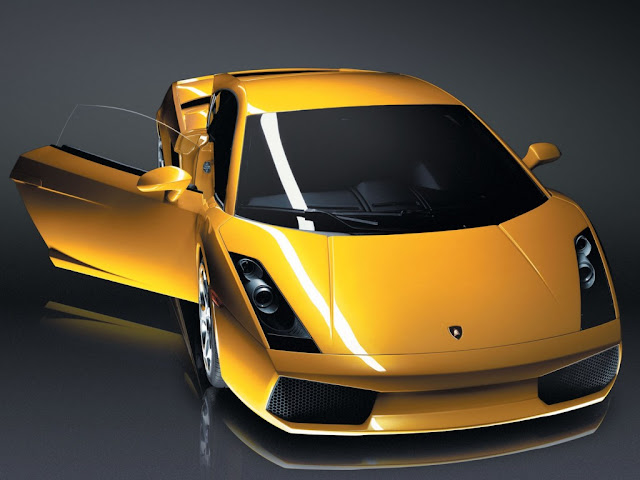 Open door Lamborghini Gallardo Wallpaper