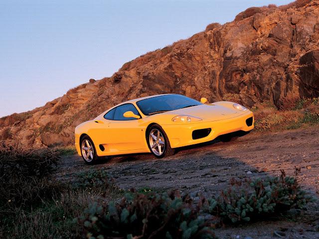 Yellow Ferrari 360 Modena Wallpaper