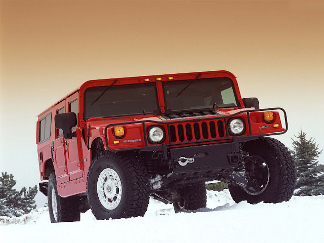 Red Hummer H1 Desktop Wallpapers