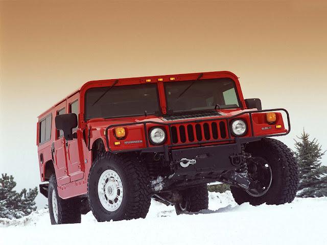 Red Hummer H1 Desktop Wallpapers